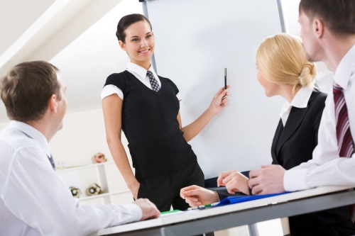 Das Whiteboard ist ideal für Präsentationen im kleinen Kreis