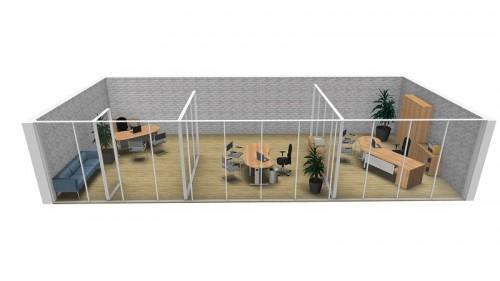 Büroplanung im 3D-Modell