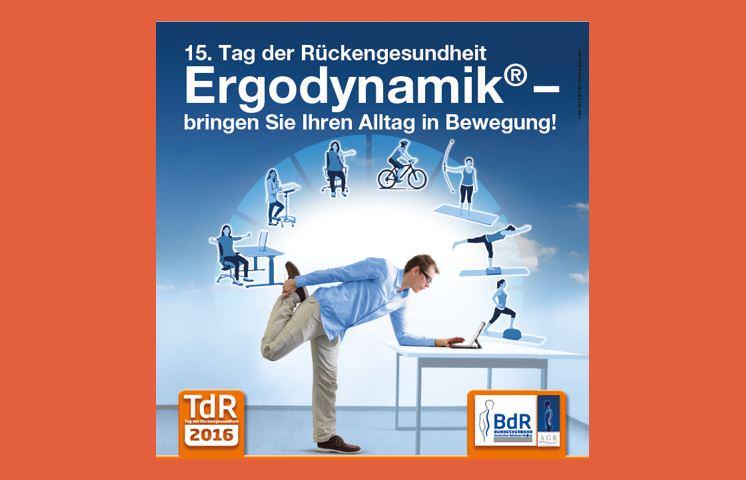 Tag der Rückengesundheit 2016 - Fachleute für Egronomie am Arbeitsplatz geben Ratschläge zur Prävention von Rückenbeschwerden