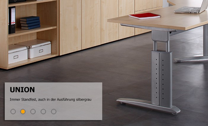 serie union robustes h henverstellbares schreibtisch system. Black Bedroom Furniture Sets. Home Design Ideas