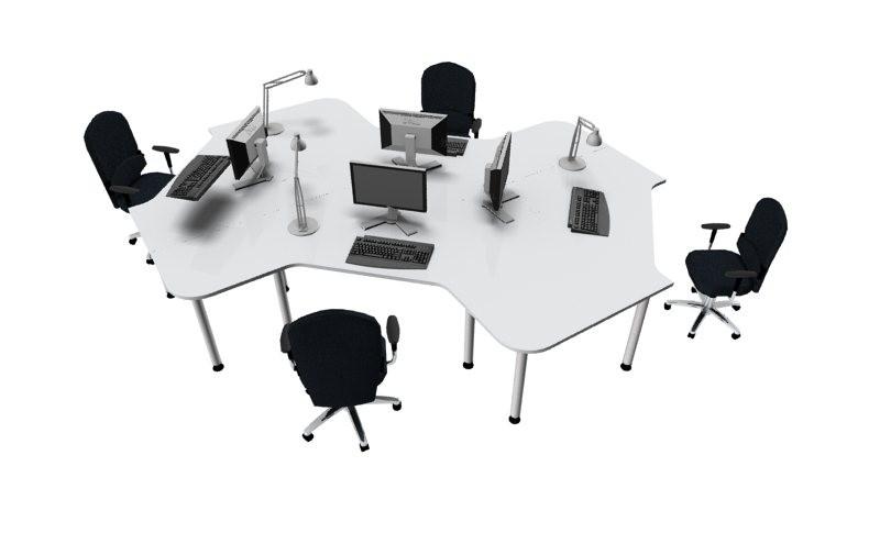 Hc19 callcenter schreibtisch hammerbacher for Schreibtisch 4 personen